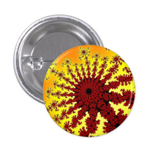 Cherry Firework Burst Small Round Button
