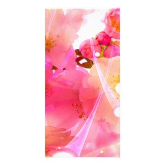 Cherry Flower Photo Card
