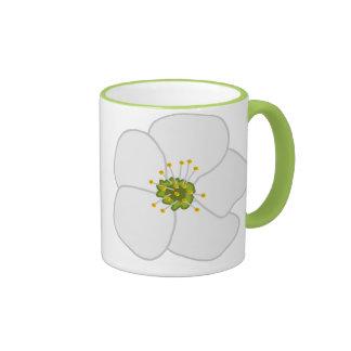 Cherry Flower Ringer Coffee Mug