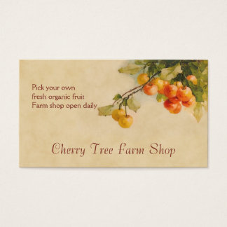 Cherry fruit sales business card