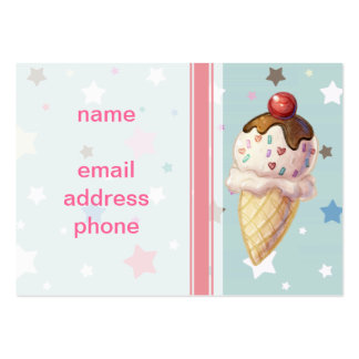 Cherry Fudge Icecream Large Business Cards (Pack Of 100)
