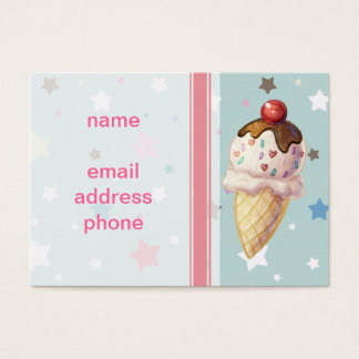 Cherry Fudge Icecream Business Card