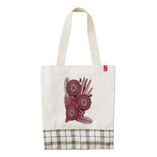 Cherry Gerbera Daisy Flower Bouquet Zazzle HEART Tote Bag