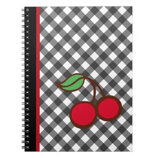 Cherry Gingham Notebook