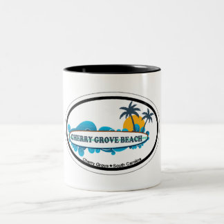 Cherry Grove Beach. Two-Tone Coffee Mug