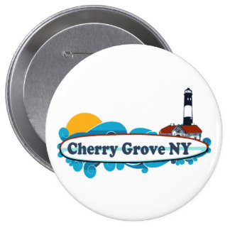 Cherry Grove. Pinback Buttons