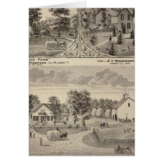 Cherry Grove,  Hillside Farm Greeting Card