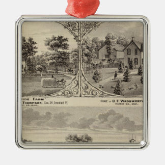 Cherry Grove,  Hillside Farm Metal Ornament