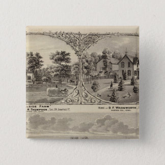 Cherry Grove,  Hillside Farm Pinback Button