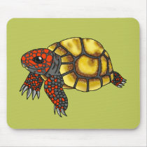 Cherry-Head Red-Footed Tortoise Mousepad (Green)