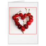 Cherry Heart Greeting Cards