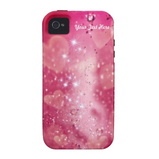 Cherry Heart Sparkle  -  Customize iPhone 4 Cover