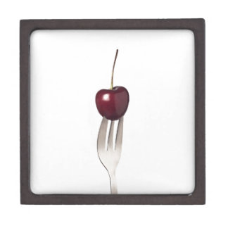 Cherry held by a fork premium gift box