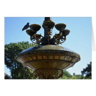 Cherry Hill Fountain Central Park NYC Photography Card