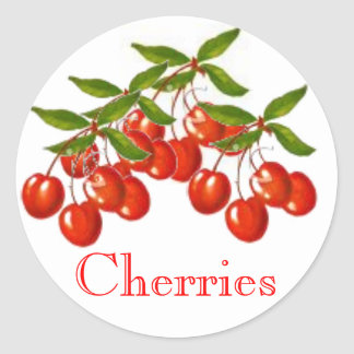 Cherry Homegrown Pie Filling Canning Label