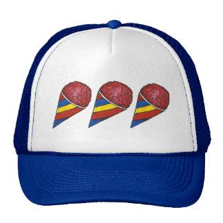 Cherry Ice Sno Cone Cones Snocone Summer Food Hat