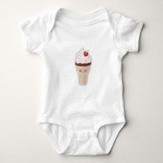 cherry icecream baby tshirt