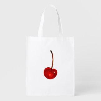 Cherry Illustration Grocery Bag