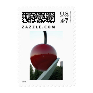 Cherry in a spoon postage