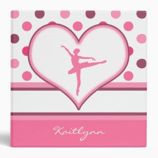 Cherry Inspired Pink Polka-Dots Ballet Dancer Binder
