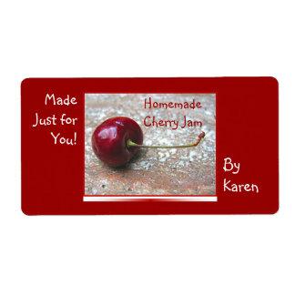 Cherry Jam label
