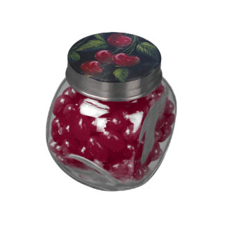 Cherry Jelly Belly Candy Jar