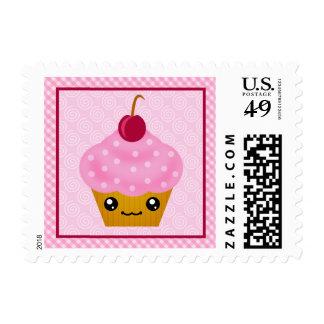 Cherry Kawaii Cupcake Custom Postage