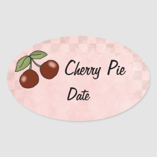 Cherry Kitchen Lables Oval Sticker