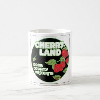 Cherry Land Wisconsin Vintage Travel Poster Coffee Mug