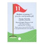Cherry Let's Par-Tee Miniature Golf Birthday Party Announcements