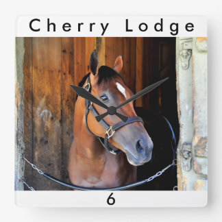 Cherry Lodge Square Wall Clock
