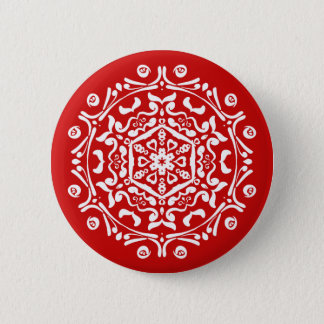 Cherry Mandala Button