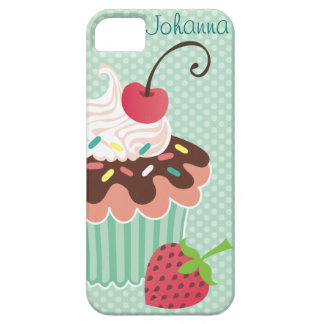 Cherry & Mint Cupcake iPhone 5 Case-Mate Case