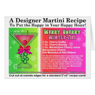 CHERRY MISTLE-TINI CHRISTMAS COCKTAIL RECIPE CARD