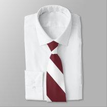 Cherry -N- Dairy University Stripe Tie