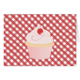 Cherry on Top Cupcake Greeting Cards
