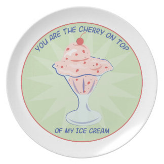Cherry On Top Party Plate