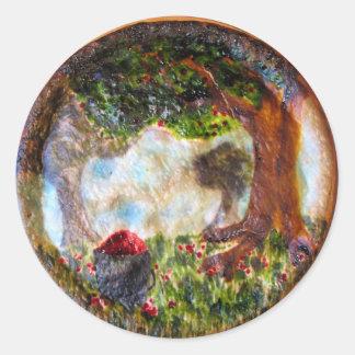 Cherry Orchard Pie Round Stickers