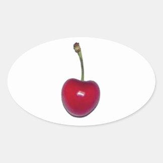 Cherry Oval Sticker