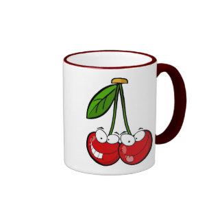 Cherry Pair Ringer Mug