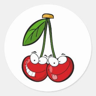 Cherry Pair Classic Round Sticker