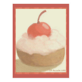 Cherry Pastry sweet collection Postcard