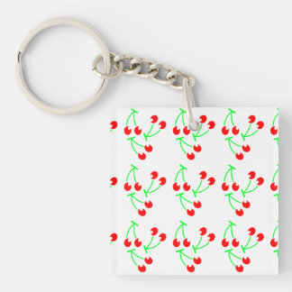 Cherry pattern fresh fruit keychain