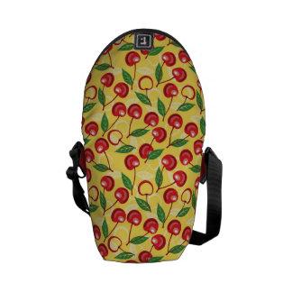 Cherry pattern messenger bag