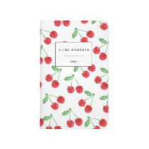 Cherry Pattern Personalized Journal