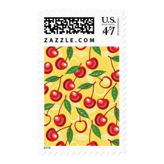 Cherry pattern postage
