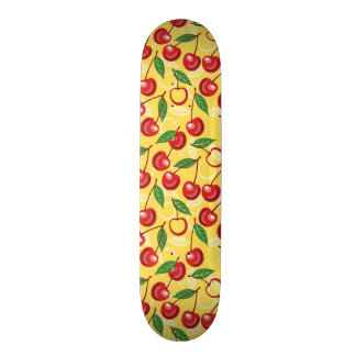 Cherry pattern skateboard deck