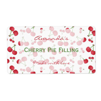 Cherry Personalized Canning Label