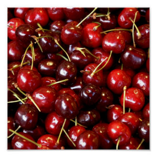 Cherry photo wall decoration on canvas poster