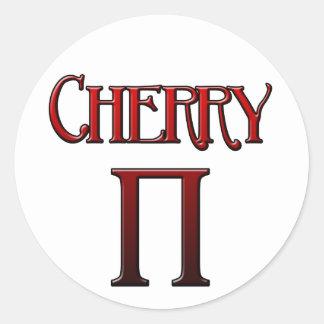Cherry Pi Classic Round Sticker
